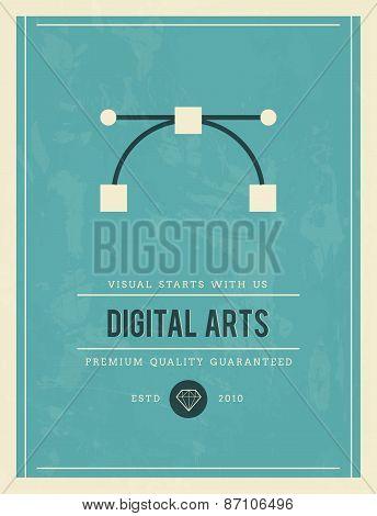 Vintage Poster For Digital Arts