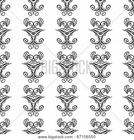 Seamless Pattern With Natural Ornament-3