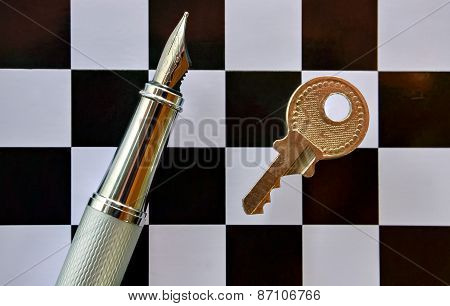 Pen And Chessboard