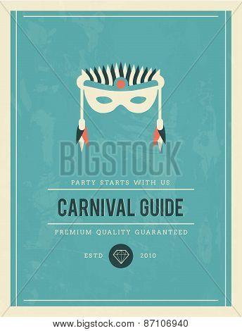 Vintage Poster For Carnival Guide