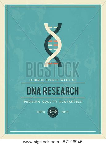 Vintage Poster For Dna Research