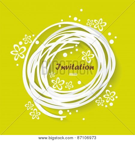 Green Congratulation Vintage Invitation Card