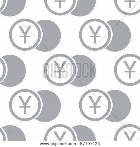 New Yen coin seamless pattern