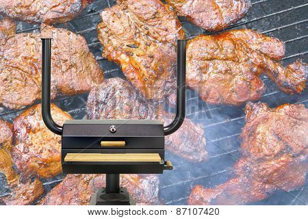 Multifunctional Cooking Oven, Roasted Meat.