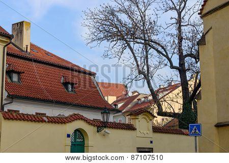 Buildings On Corner Of Hastal Square And Anezska Street, Prague.