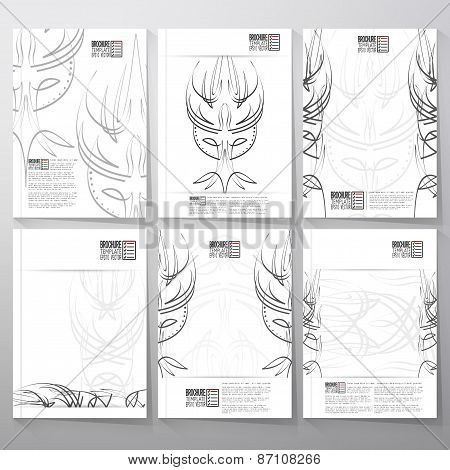 Pinstripe design backgrounds. Brochure, flyer or report for business, template vector