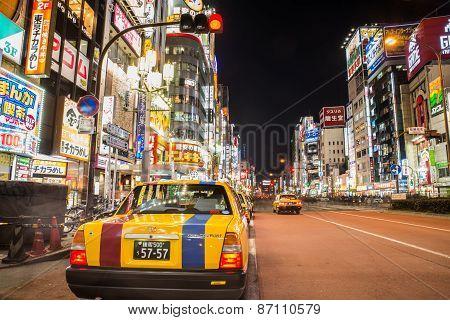 Taxi In Shinjuku,tokyo