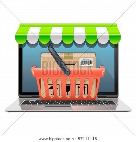 Vector Computer Shopping Concept
