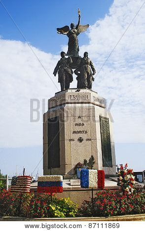 Cannes, France - August 28, 2014: monument to heroes of World War I