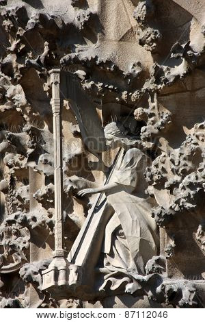 Detail From Sagrada Familia In Barcelona