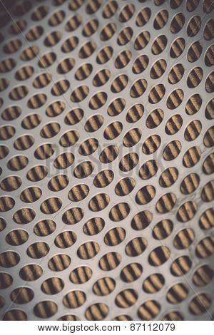 Metal Grid Of Car Air Filter For Background