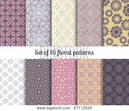 Pastel flowers backgrounds