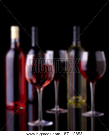 Wine Background. Completely Defocused, Blurred And Filtered.