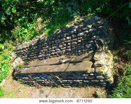 Pebble Stone Bench Seat