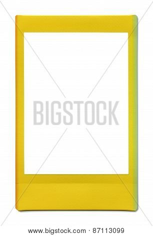 Polaroid Photo Frame Isolated On White With Clipping Path Included