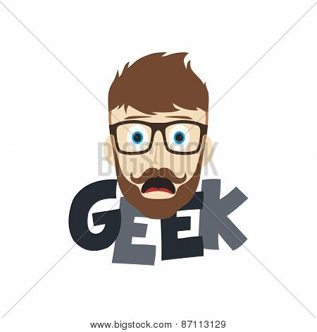 smart geek nerd cartoon theme