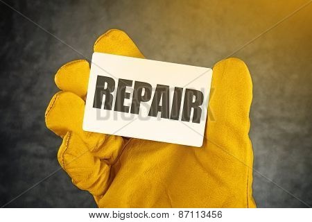Repair On Business Card