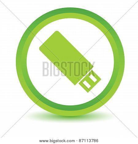 Green flash drive icon