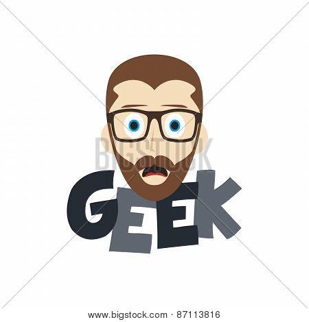 smart geek nerd cartoon theme
