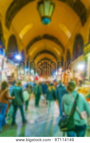 Background Blur Istanbul Grand Bazaar