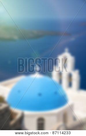 Blurred Background Santorini