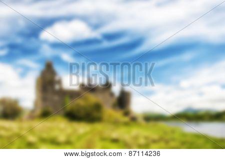 Blurred Background Scottish Ruins