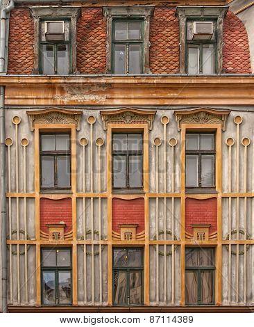 Riga Old House Facade
