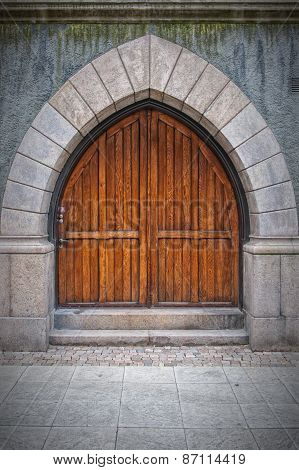 Wooden Arched Doors