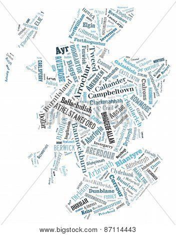 Wordcloud Of Scotland