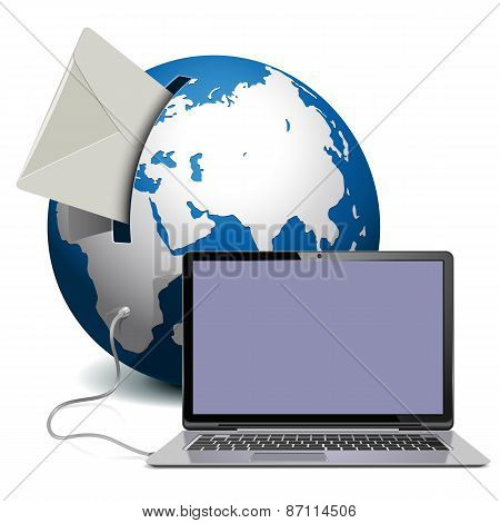 Vector Globe With Notebook