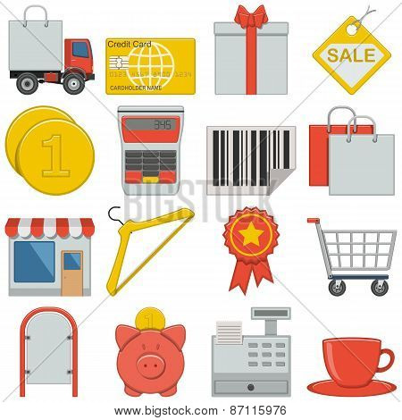 Vector Flat Icons - Retail