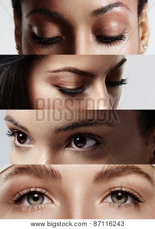 Different Woman's Eyes. Collage