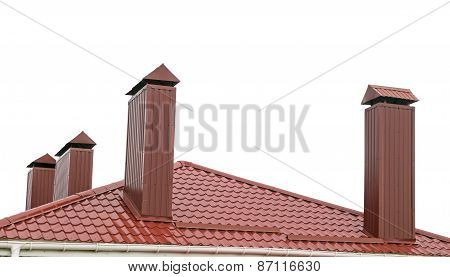 House From A Red Brick With A Pipe