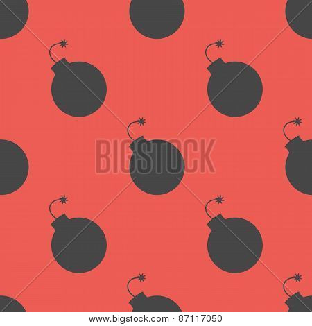 Seamless pattern with bombs. Vector illustration. Vivd colors.