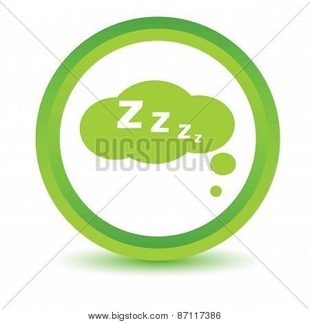 Green sleep icon