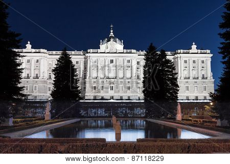 Madrid's Royal Palace at Night