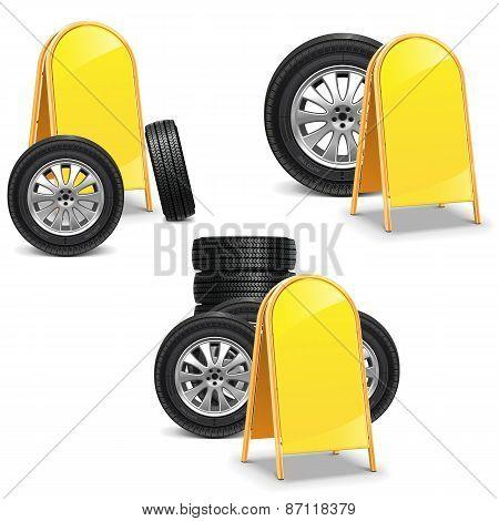 Vector Tires With Billboard
