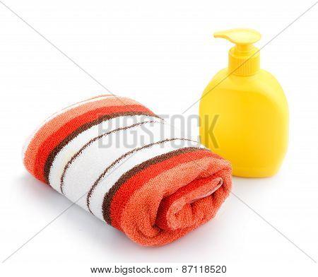 Towels and Soap Dispenser
