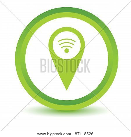 Green Wi-fi pointer icon