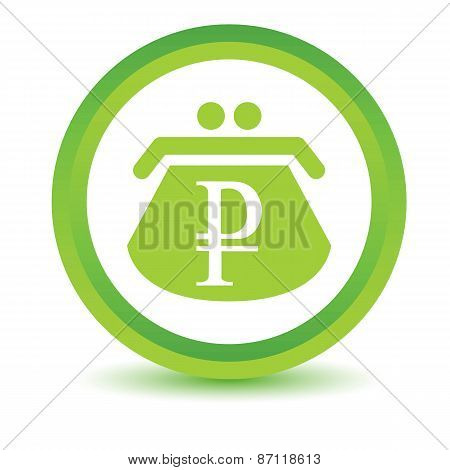 Green rouble purse icon