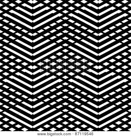 Tile black and white vector pattern or nordic background