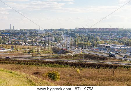 View Of The City Of Samara From Ikea Hypermarket In Summer Sunny Day