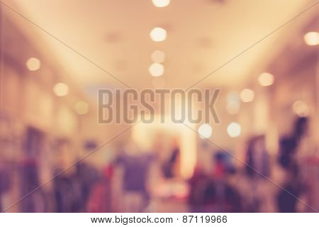 Blurred Image Of Shopping Mall With Bokeh
