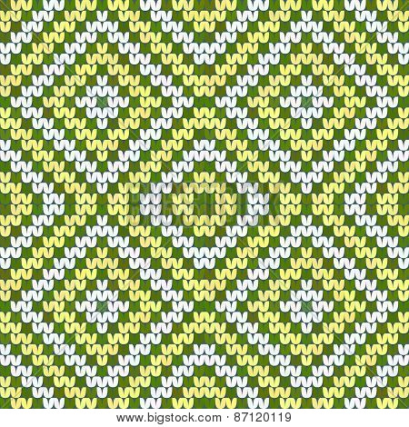 Green And Yellow Seamless Argyle Texture