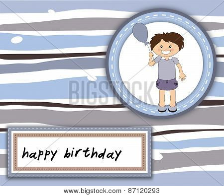 Happy Birthday Card With Smiling Girl