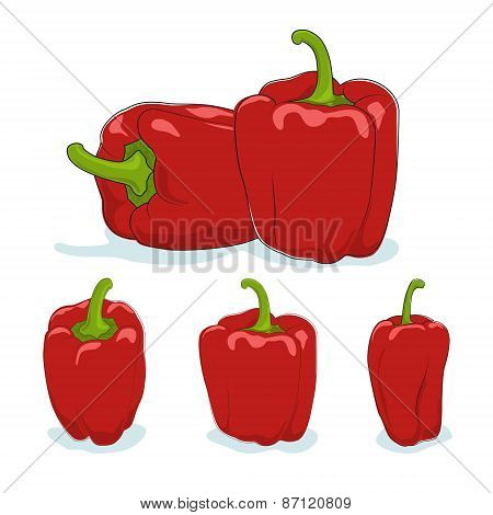 Red bell pepper,sweet pepper or capsicum