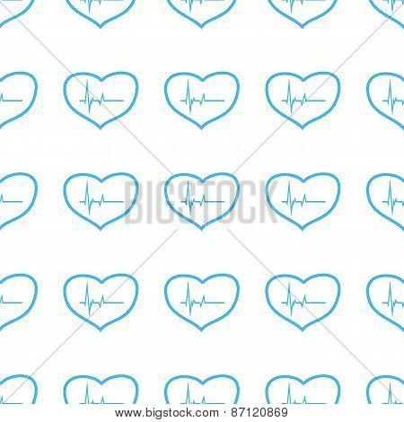 Unique Heartbeat seamless pattern