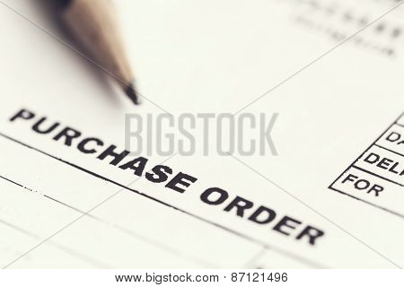 Purchase Order Sheet