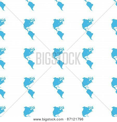 Unique Continental Americas seamless pattern