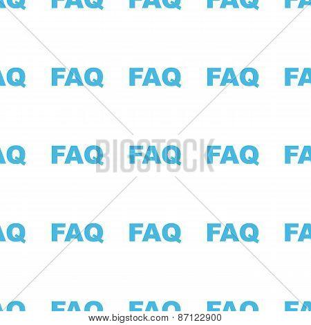 Unique Faq seamless pattern